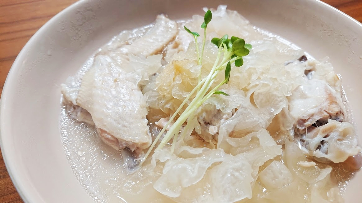 【おうちで薬膳】圧力鍋で簡単♪  白きくらげのぷるぷる美肌スープ